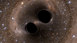 Image of Merging Black Holes. (Credit: SXS)